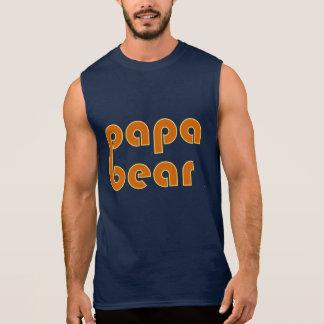 T-shirt Sans Manches Ours de papa (orange)