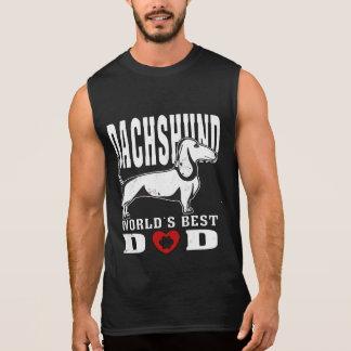 T-shirt Sans Manches Papa du monde de teckel le meilleur
