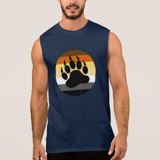 T-shirt Sans Manches Patte d'ours en cercle de fierté d'ours (grand