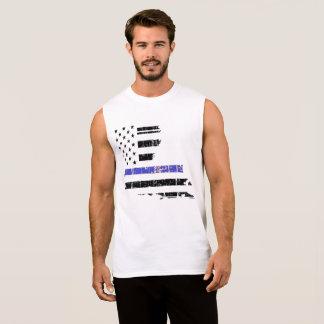 T-shirt Sans Manches PIÈCE EN T SANS MANCHE de MUSCLE de loi mince de