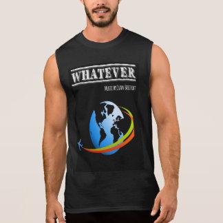 T-shirt Sans Manches Quoi que/planète + avion