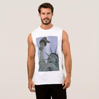 T-shirt Sans Manches Statue de conception de liberté