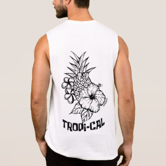 T-shirt Sans Manches Tropical par Mikka Lastro