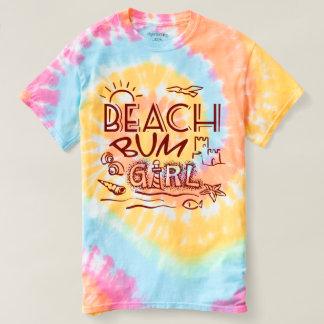 T-shirt sans valeur de fille de plage