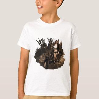 T-shirt Sara dans le désert - vieille photo