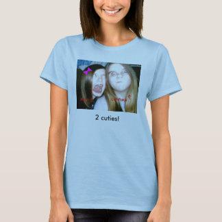 T-shirt sara et MOIS 001, 2 cuties !