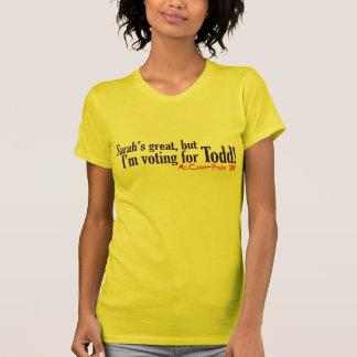 T-shirt Sara grande, mais moi vote pour Todd !