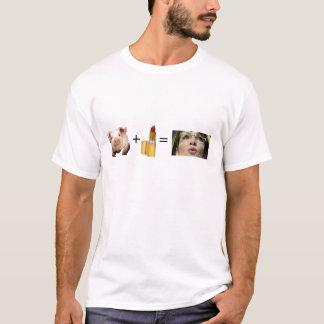 T-shirt Sara Palin/rouge à lèvres sur un porc