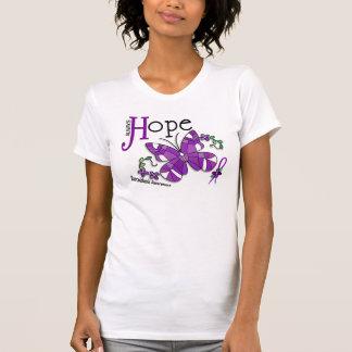 T-shirt Sarcoïdose de papillon en verre souillé