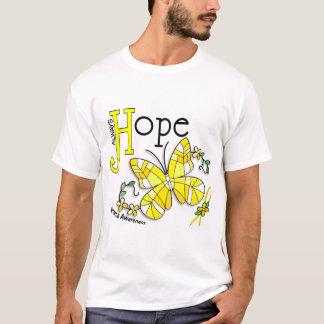 T-shirt Sarcome de papillon en verre souillé