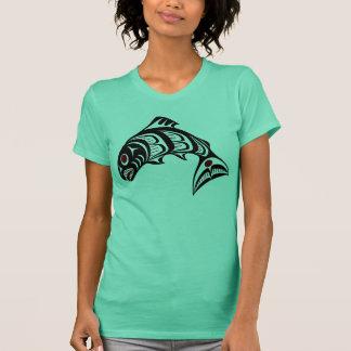 T-shirt Saumon du nord-ouest d'art de Haida de Côte