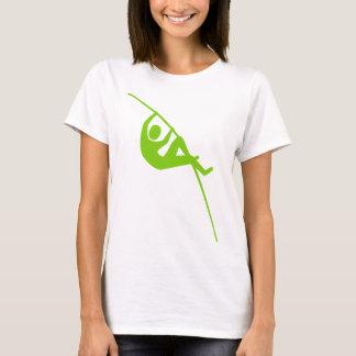 T-shirt Saut à la perche - vert de Martien