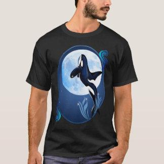 T-shirt Saut des chemises d'ovale d'orque et de lune