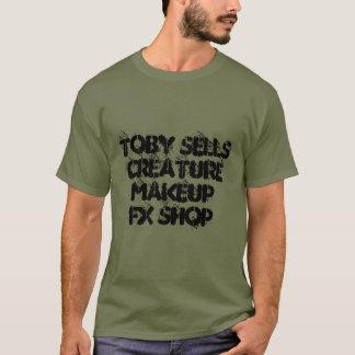 T-shirt Sauvant le monde, un monstre en caoutchouc à la