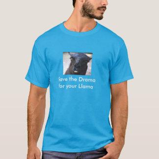 T-shirt Sauvez le drame pour votre lama
