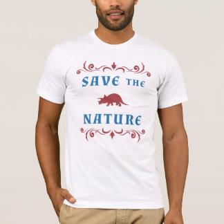 T-shirt Sauvez le Triceratops de nature