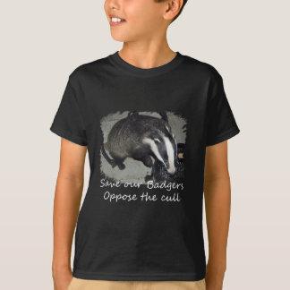T-shirt Sauvez les blaireaux britanniques, opposez-vous à