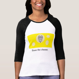 T-shirt Sauvez l'humour aléatoire de fromage