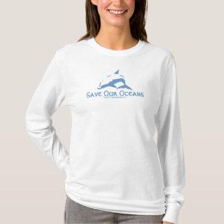 T-shirt Sauvez notre graphique de dauphin d'océans
