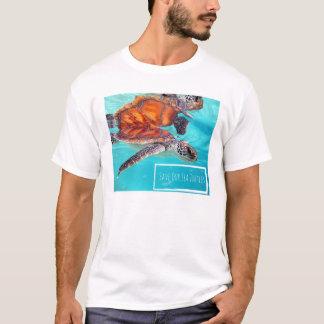 T-shirt Sauvez notre pièce en t de tortues de mer
