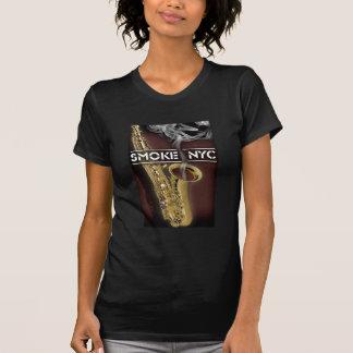 T-shirt Saxo de dames Smokin - customisé