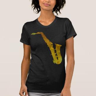 T-shirt Saxo d'or bariolé