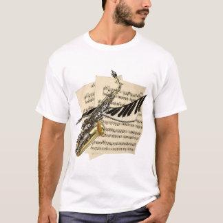 T-shirt Saxophone et piano de musiciens