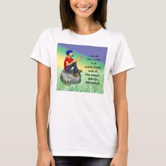 T-shirt Scène comique contemplative