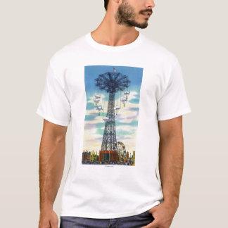 T-shirt Scène de journée de saut de parachute de parc de