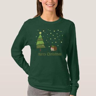 T-shirt Scène de Noël de hérisson
