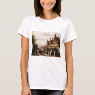 T-shirt Scène de rue avec des chiffres de Cornelis