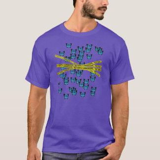 T-shirt scène du crime de papillon