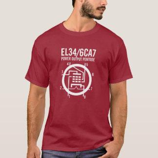 T-shirt Schéma du tube EL34