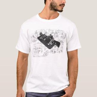 T-shirt schématique principal par radio de code