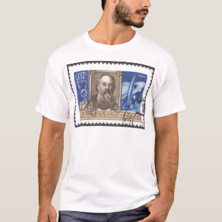 T-shirt Scientifique de Russe de Konstantin Tsiolkovsky