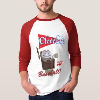 """T-shirt Scolletta """"Cleveland Basball !"""" 3/4 raglan de"""