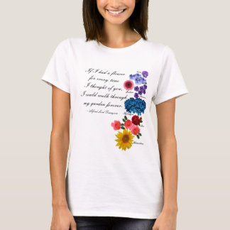T-shirt Seigneur Tennyson Garden Quote Romantic d'Alfred