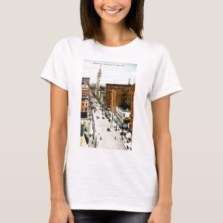 T-shirt Seizième rue de rue de Glenarm, Denver, Colo