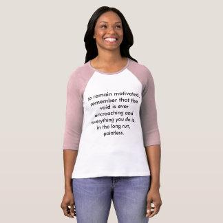 T-shirt séjour motivé