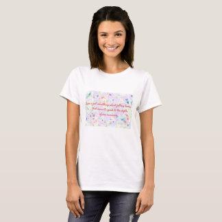 T-shirt sentimental de citation