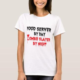 T-shirt Serveur de nourriture par le tueur de zombi de