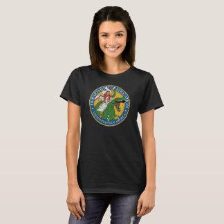 T-shirt Service d'éducation - Jésus sur un T-Rex (f)
