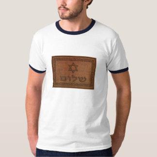 T-shirt Shalom en bois découpé