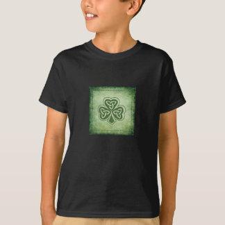 T-shirt Shamrock à la mode vintage d'Irlandais de grundge