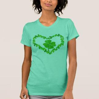 T-shirt Shamrock de coeur