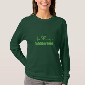 T-shirt Shamrock ECG du jour de St Patrick - je suis