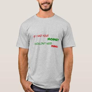 T-shirt Si j'avais votre argent