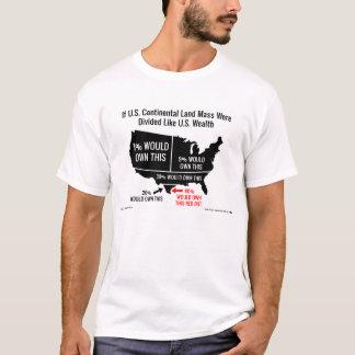 T-shirt Si la masse continentale de terre des États-Unis