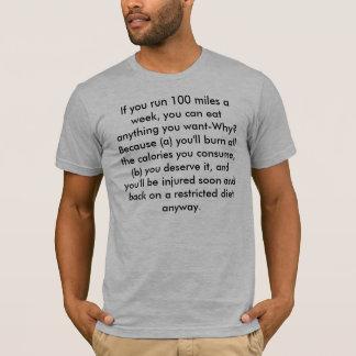 T-shirt Si vous courez des 100 milles…