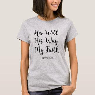 T-shirt Sien sa manière ma foi - vers chrétien de bible
